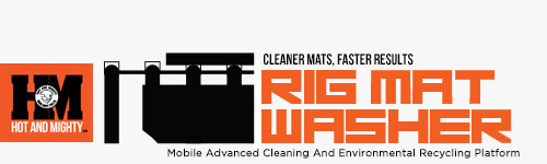 Hot And Mighty Pressure Washer Trailer Logo